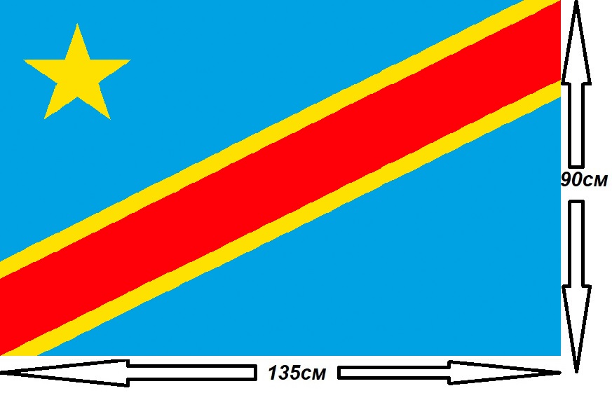 Флаг Конго 135х90см.