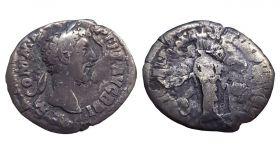 Римский денарий Серебряная монета Луций Коммод 161 г ОРИГИНАЛ Римская империя