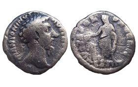 Римский денарий Серебряная монета Антонин Пий 138 г ОРИГИНАЛ Римская империя