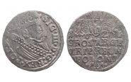 Средневековая серебряная монета 1624 год. Сигизмунд Трояк 3 гроша. Средневековье