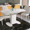 Обеденный стол Портофино 1300x800x750мм Белый глянец/Стекло белое СМ(ТД)-105.02.11(1)
