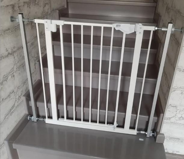 Ворота безопасности 84х91 (dg11) перегородка  барьер без сверления стен Baby Safe
