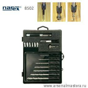 Набор монтажный (биты, сверла, зенкер) в пластиковом футляре 16 шт NAREX 850200