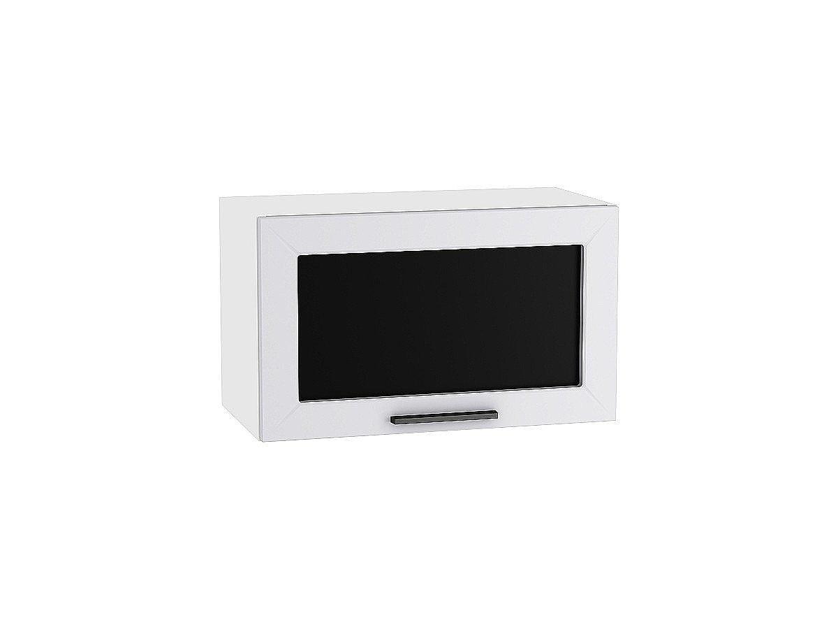 Шкаф верхний горизонтальный Глетчер ВГ610 со стеклом (Гейнсборо Силк)