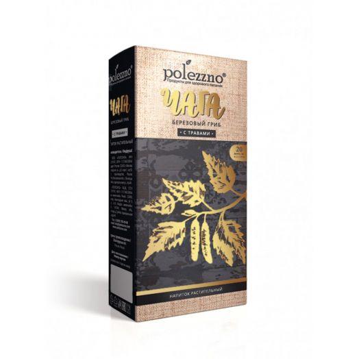 ПОЛЕЗЗНО Напиток растительный в фильтр-пакетах ЧАГА С ТРАВАМИ