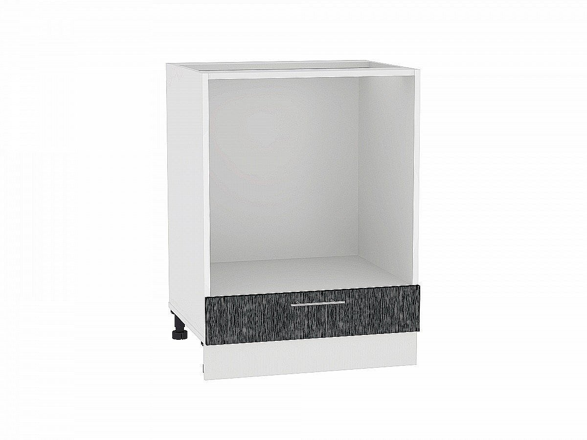Шкаф нижний под духовку Валерия НД600 (чёрный металлик дождь)