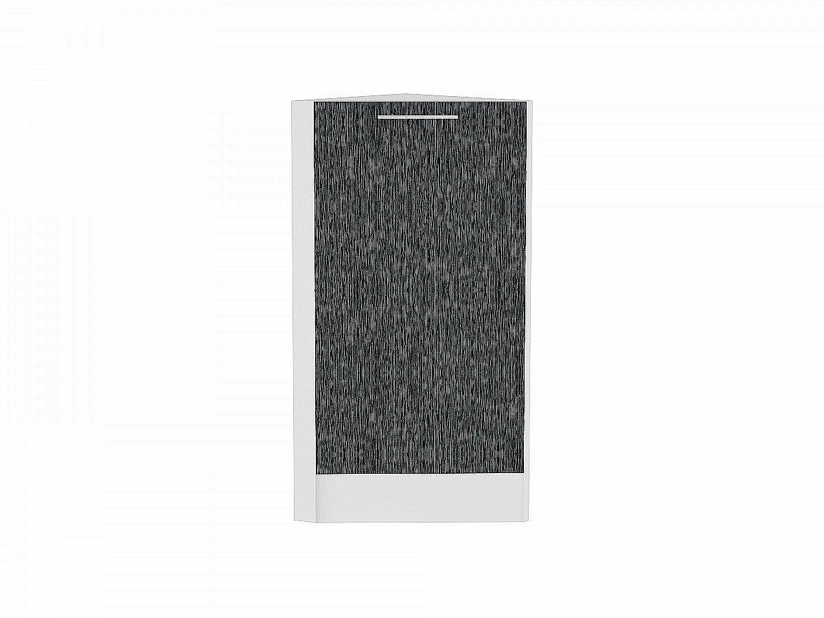 Шкаф нижний торцевой Валерия НТ300 (чёрный металлик дождь)