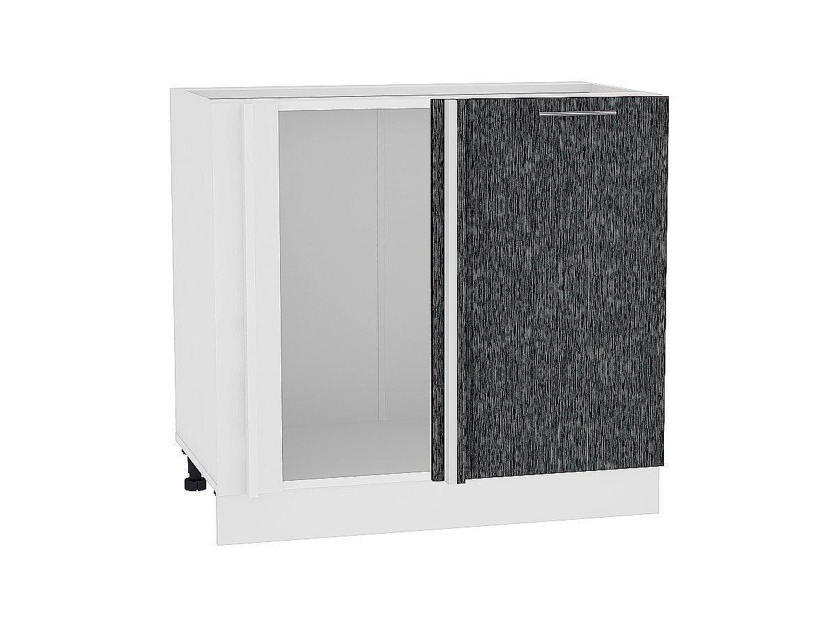 Шкаф нижний угловой Валерия НУ990 (чёрный металлик дождь)