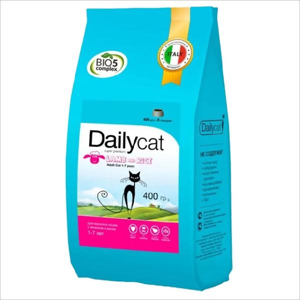 Сухой корм для кошек DailyCat Adult Lamb & Rice с ягненком и рисом