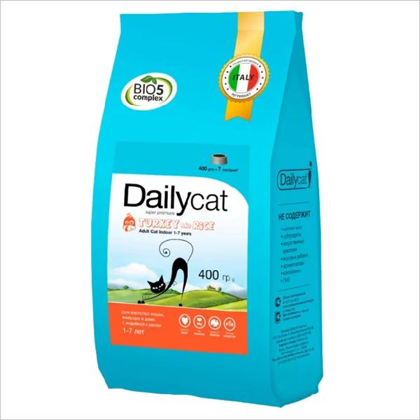 Сухой корм для кошек DailyCat Adult Indoor Turkey & Rice с индейкой и рисом
