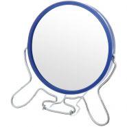 """Зеркало круглое метал.цветное, 2-ст.с увелич. 8"""""""