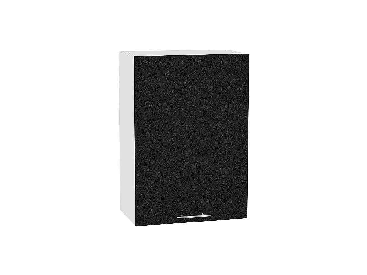 Шкаф верхний Валерия В609-Ф46Н чёрный металлик