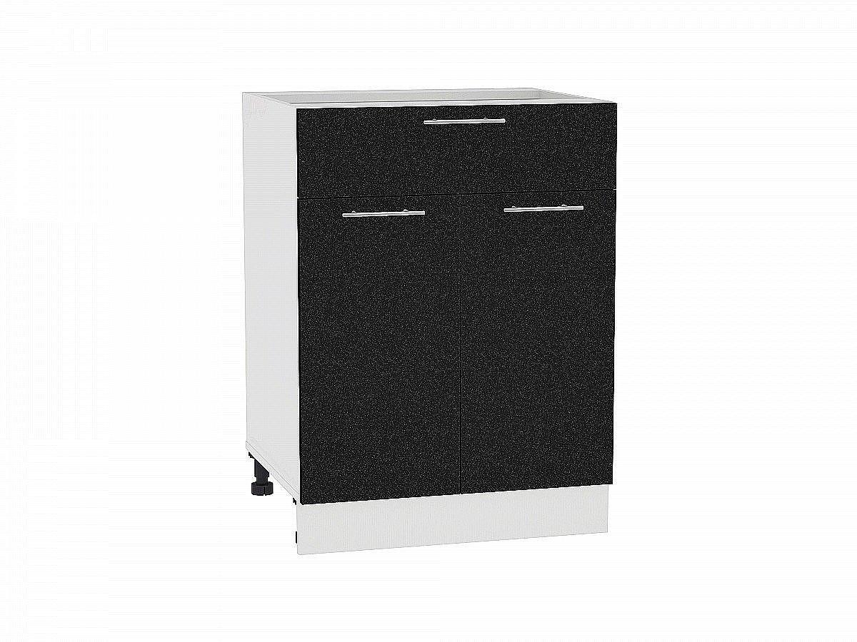 Шкаф нижний Валерия Н601 чёрный металлик