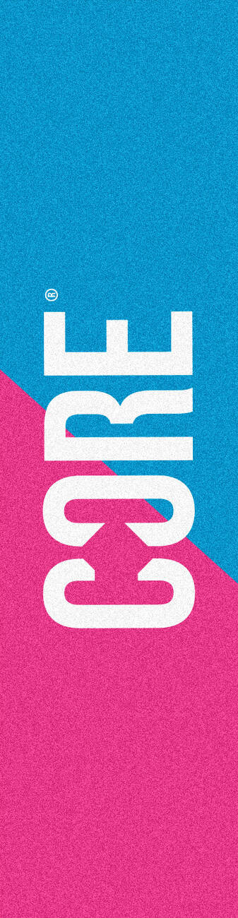 Шкурка для самоката CORE Classic, розовый/голубой 57*14 см