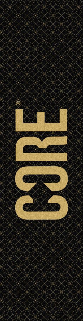 Шкурка для самоката CORE Classic Grid Gold, принт 57*14 см