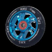 Колесо КМС 100 мм с алюминиевым диском, голубой