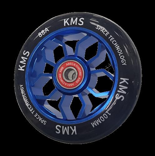 Колесо КМС 100 мм с алюминиевым диском синее