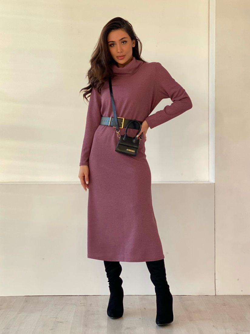4863 Платье-свитер в цвете mauve