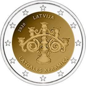 Латгальская керамика 2 евро Латвия 2020 Новинка!
