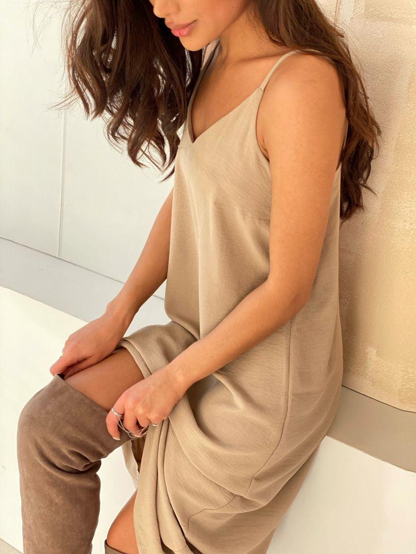 4871 Платье-комбинация с краш-эффектом