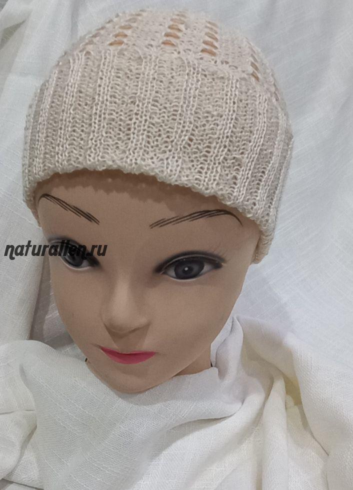 Детская льняная шапка 2-7 лет
