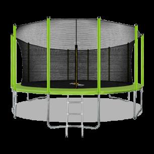 Батут с внутренней страховочной сеткой и лестницей Arland 16FT (Light green)