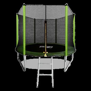 Батут с внешней страховочной сеткой и лестницей Arland 8FT (Light green)