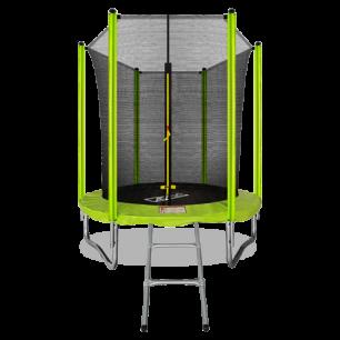 Батут с внутренней страховочной сеткой и лестницей Arland 6FT (Light green)