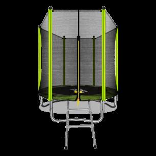 Батут с внешней страховочной сеткой и лестницей Arland 6FT (Light green)