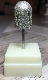 """Фреза алмазная """"ТВИСТЕР"""" цилиндр закругленный (торпеда) средний с подставкой 16 мм"""