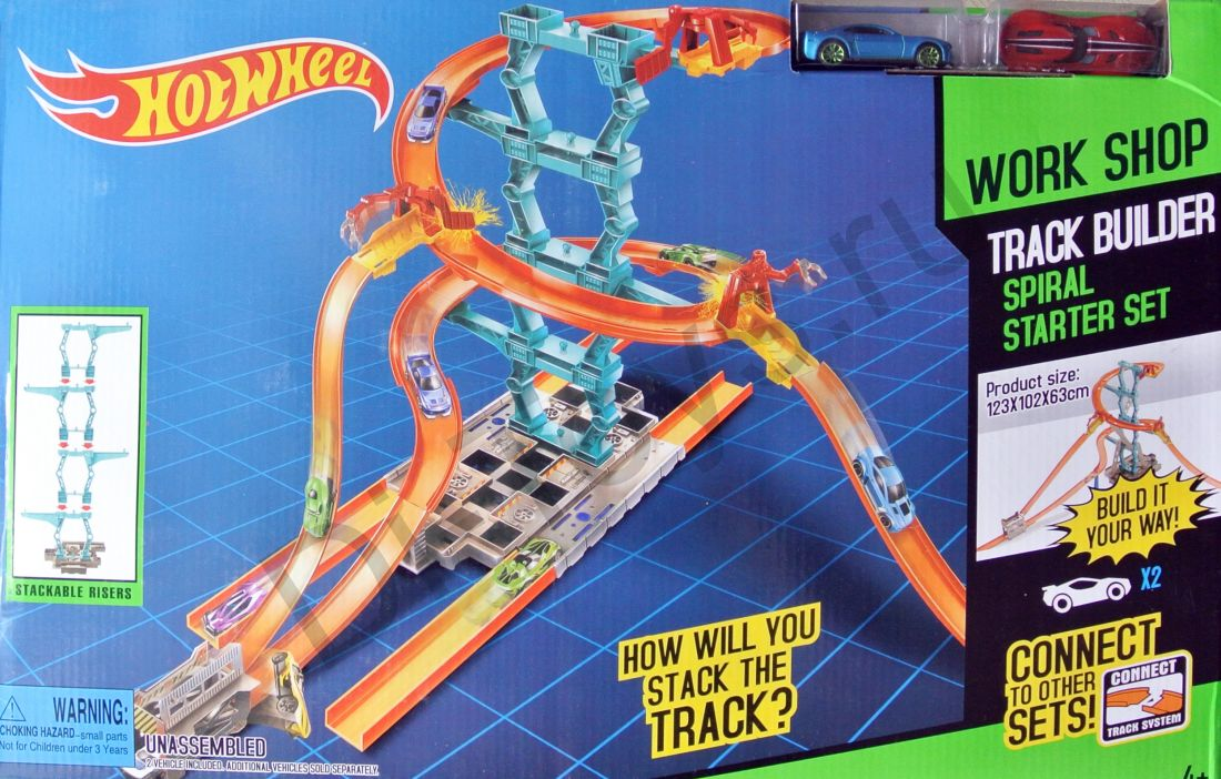"""Игровой набор HOT WHEEL """"построй спиральную трассу"""" +2 машинки"""