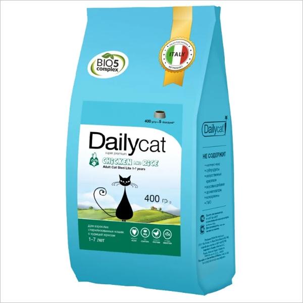 Сухой корм для стерилизованных кошек DailyCat Adult Steri Lite Chicken & Rice с курицей и рисом