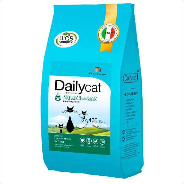 Сухой корм для котят DailyCat Kitten Chicken & Rice с курицей и рисом