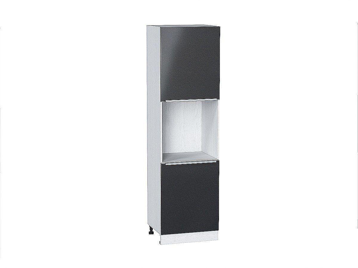 Шкаф пенал под бытовую технику Фьюжн ШП600 Anthracite