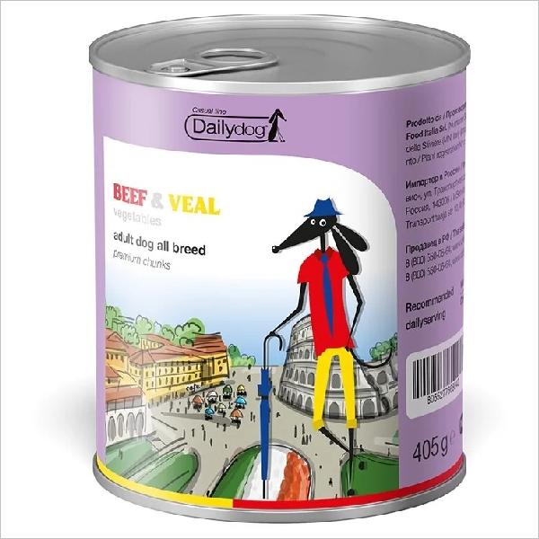 Влажный корм для собак DailyDog Casual Line Beef & Veal с говядиной телятиной и овощами 405 гр