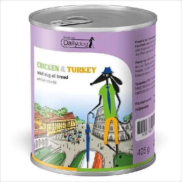 Влажный корм для собак DailyDog Casual Line Chicken & Turkey Chunks с курицей и индейкой 405 гр