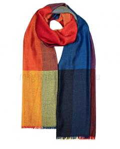 Роскошный тонкорунный палантин (широкий шарф)  Элли Эссиль Рубиновый, ALLIE ESSIL RUBY LUXURY SCARF смесь кашемира , шерсти мериноса и шелка, плотность 3