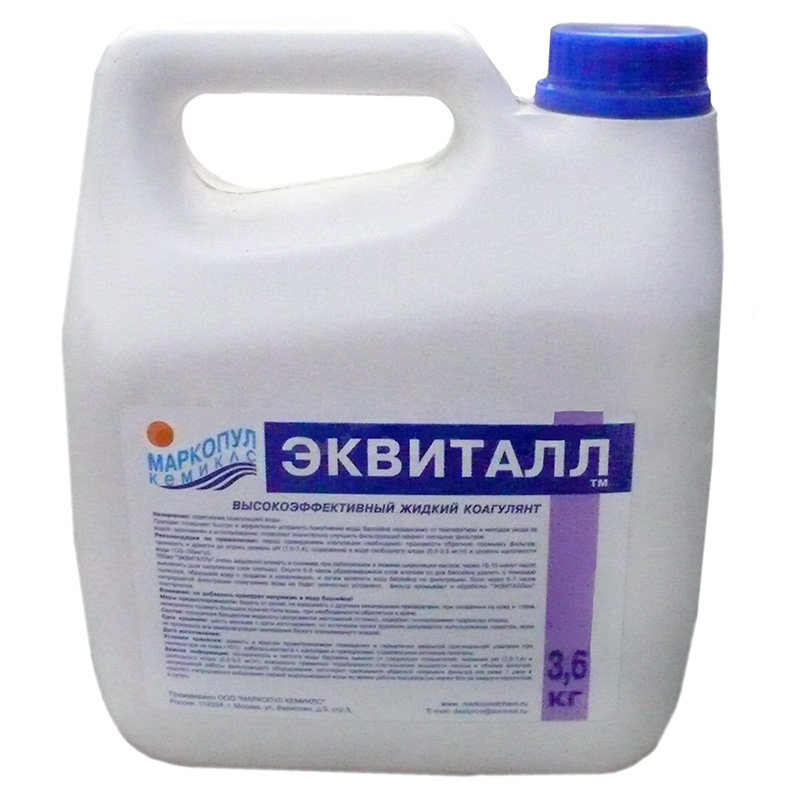 Эквиталл жидкий коагулянт (осветлитель) ударного действия  3 л. (3.6 кг.)