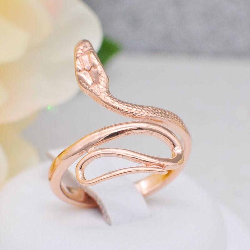 Кольцо в виде змеи золочение  (Арт.К684)