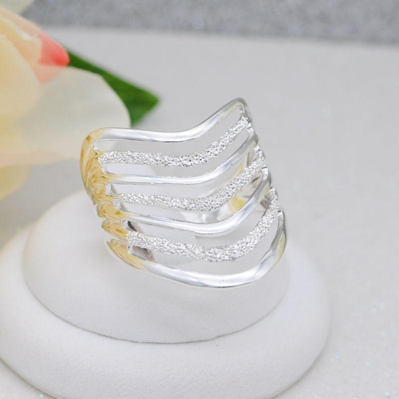 Кольцо бижутерия серебрение (Арт.К642)