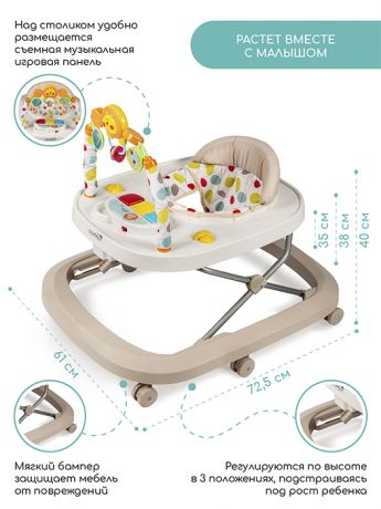Ходунки детские с электронной игровой панелью AMAROBABY Walking Baby