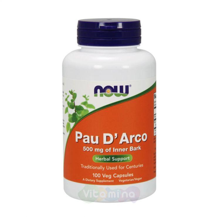 Now Pau D'Arco Пао Д'Арко Кора муравьиного дерева 500 мг, 100 капсул