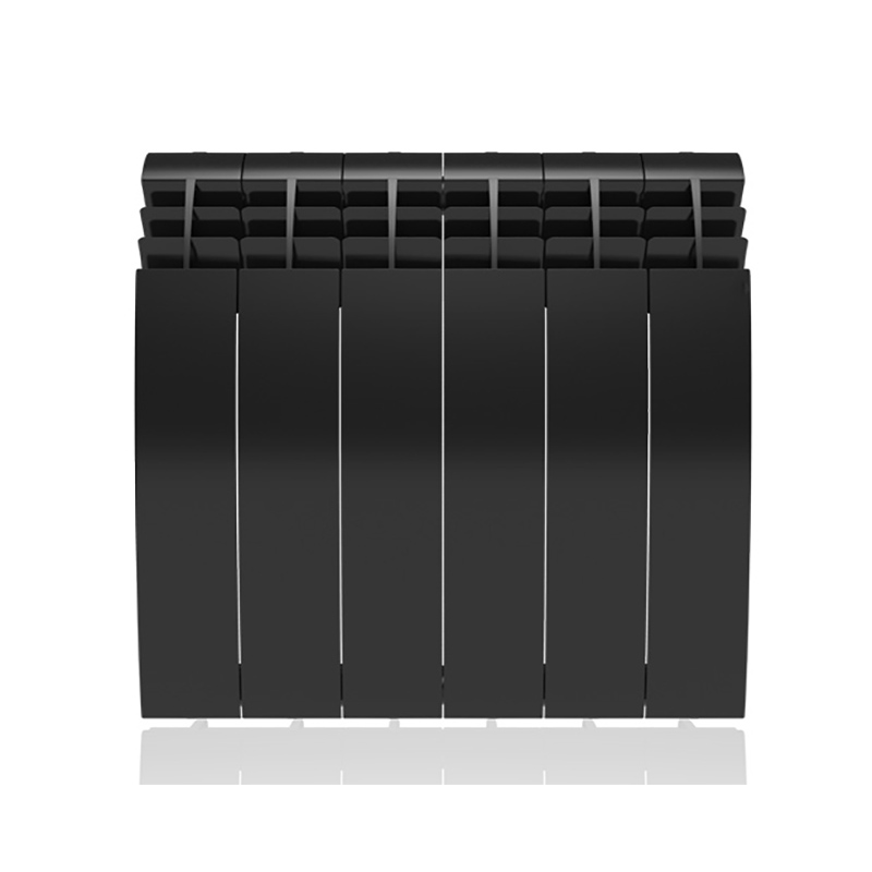 Настенный электрический радиатор отопления РЭБ 6 секций х 350, черный