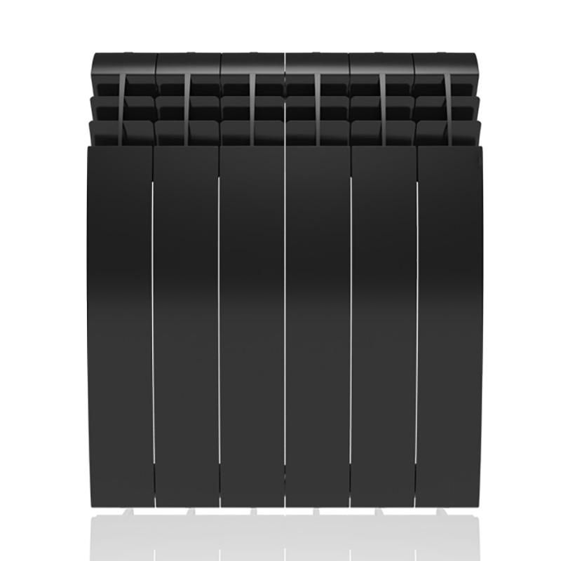 Настенный электрический радиатор отопления РЭБ 6 секций х 500, черный