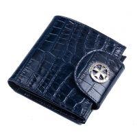 Кожаный кошелек Narvin 9581-N.Croco D.Blue