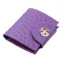 Кожаный кошелек Narvin 9581-N.Ostrich Lilac