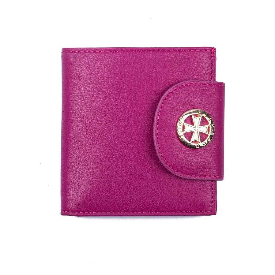 Кожаный кошелек Narvin 9581-N.Polo Lilac