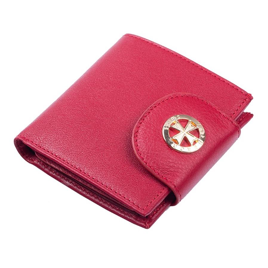 Кожаный кошелек Narvin 9581-N.Polo Red