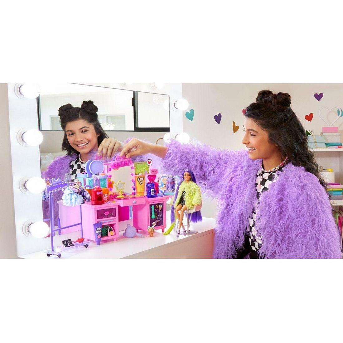 Набор игровой Barbie Экстра Туалетный столик GYJ70