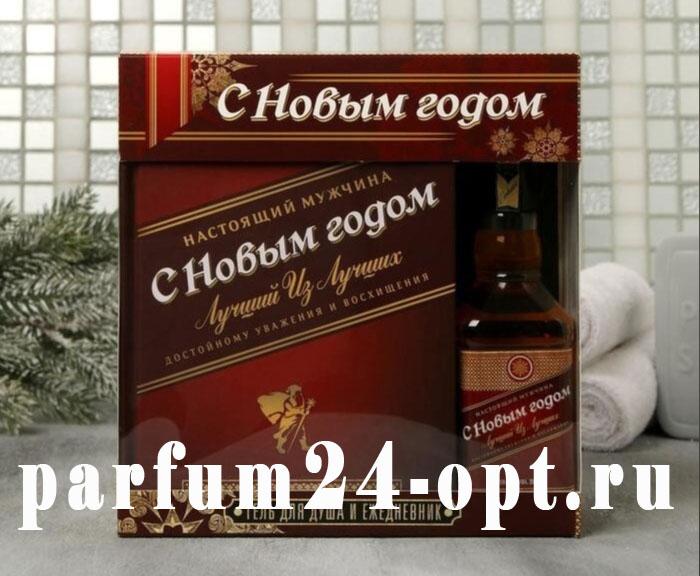 """Набор """"С Новым годом"""" гель для душа, ежедневник 80 листов"""